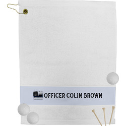 Blue Line Police Golf Towel (Personalized)
