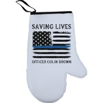 Blue Line Police Right Oven Mitt (Personalized)
