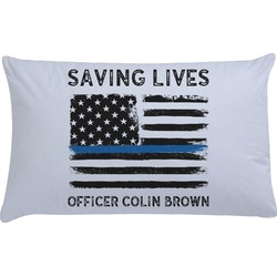Blue Line Police Pillow Case (Personalized)