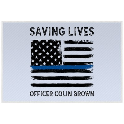 Blue Line Police Placemat (Laminated) (Personalized)