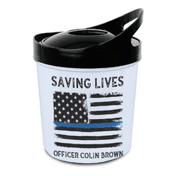 Blue Line Police Plastic Ice Bucket (Personalized)