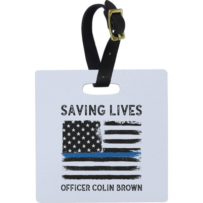 Blue Line Police Luggage Tags (Personalized)