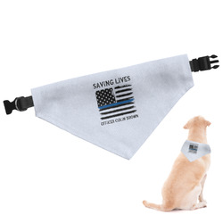 Blue Line Police Dog Bandana - Large (Personalized)
