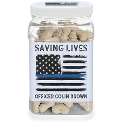 Blue Line Police Pet Treat Jar (Personalized)