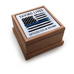 Blue Line Police Pet Urn (Personalized)