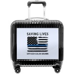 Blue Line Police Pilot / Flight Suitcase (Personalized)