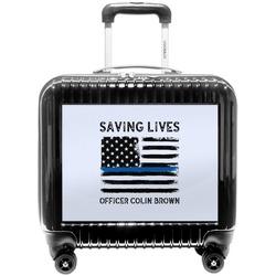 Blue Line Police Pilot / Flight Suitcase (Personalized)