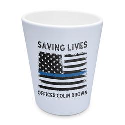 Blue Line Police Plastic Tumbler 6oz (Personalized)
