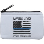 Blue Line Police Rectangular Coin Purse (Personalized)