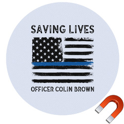 Blue Line Police Car Magnet (Personalized)