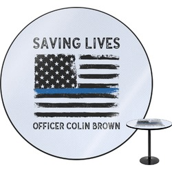 Blue Line Police Round Table (Personalized)