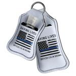 Blue Line Police Hand Sanitizer & Keychain Holder (Personalized)