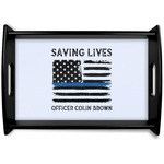 Blue Line Police Wooden Trays (Personalized)