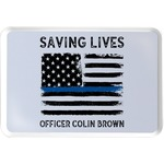 Blue Line Police Serving Tray (Personalized)