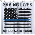 Blue Line Police Shower Curtain (Personalized)