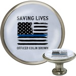 Blue Line Police Cabinet Knobs (Personalized)