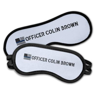Blue Line Police Sleeping Eye Masks (Personalized)