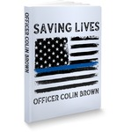 Blue Line Police Softbound Notebook (Personalized)