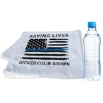 Blue Line Police Sports & Fitness Towel (Personalized)