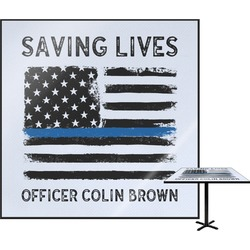 Blue Line Police Square Table Top (Personalized)