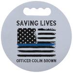 Blue Line Police Stadium Cushion (Round) (Personalized)