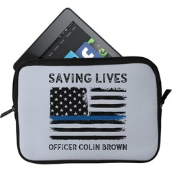 Blue Line Police Tablet Case / Sleeve (Personalized)