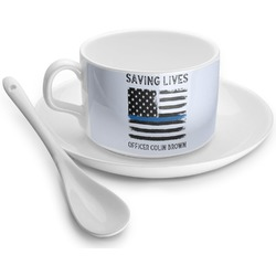 Blue Line Police Tea Cup - Single (Personalized)