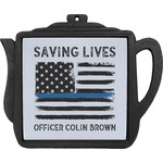 Blue Line Police Teapot Trivet (Personalized)