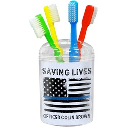 Blue Line Police Toothbrush Holder (Personalized)