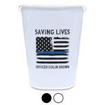 Blue Line Police Waste Basket (Personalized)