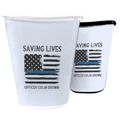 Blue Line Police Waste Basket (Personalized)