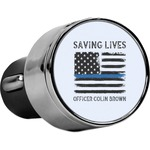 Blue Line Police USB Car Charger (Personalized)