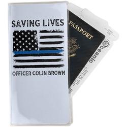 Blue Line Police Travel Document Holder