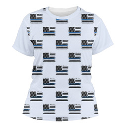 Blue Line Police Women's Crew T-Shirt (Personalized)