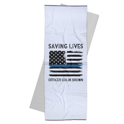 Blue Line Police Yoga Mat Towel (Personalized)