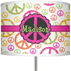 Personalized 13 drum lamp shades youcustomizeit peace sign 13 drum lamp shade personalized 5995 aloadofball Gallery