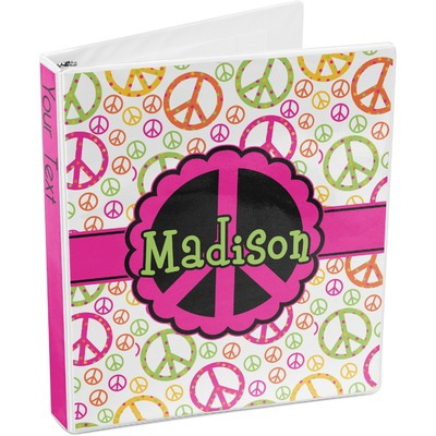 Peace Sign 3-Ring Binder (Personalized)
