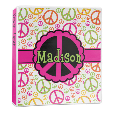 Peace Sign 3-Ring Binder - 1 inch (Personalized)