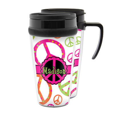 Peace Sign Acrylic Travel Mugs (Personalized)