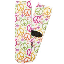 Peace Sign Adult Crew Socks (Personalized)