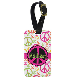 Peace Sign Aluminum Luggage Tag (Personalized)