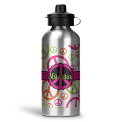 Peace Sign Water Bottle - Aluminum - 20 oz (Personalized)