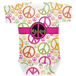 Peace Sign Baby Bodysuit (Personalized)