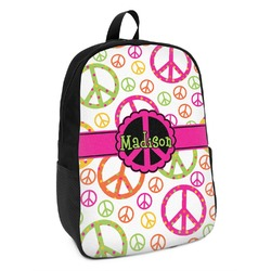 Peace Sign Kids Backpack (Personalized)