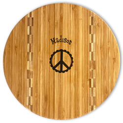 Peace Sign Bamboo Cutting Board (Personalized)