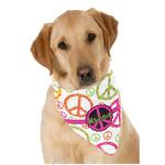 Peace Sign Dog Bandana Scarf w/ Name or Text