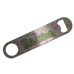 Peace Sign Bar Bottle Opener (Personalized)
