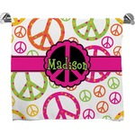 Peace Sign Bath Towel (Personalized)