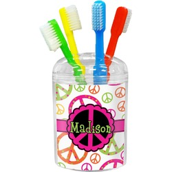 Peace Sign Toothbrush Holder (Personalized)