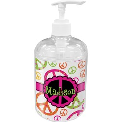 Peace Sign Acrylic Soap & Lotion Bottle (Personalized)